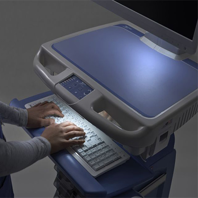 Medical Cart with Lighted Keyboard